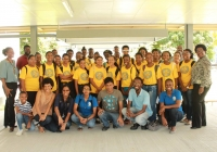 Students From the Math & Robotic Institute visiting The University of Guyana (July 2016)